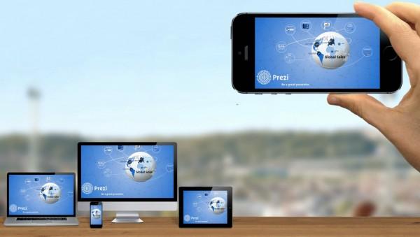 Prezi ya permite hacer y ver presentaciones desde el móvil en tiempo real