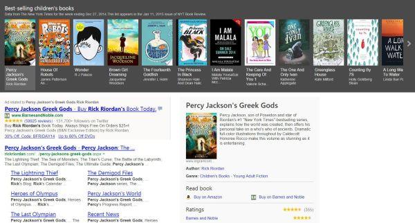 Bing Search Books