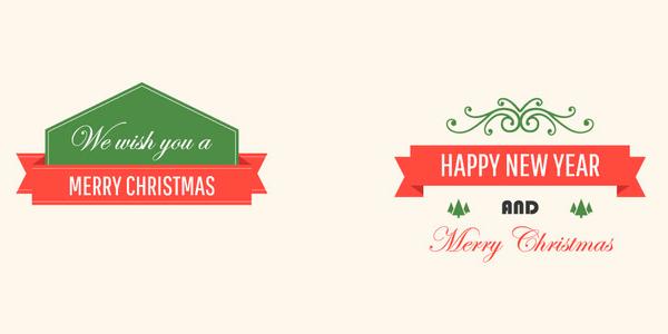 Símbolos navideños en formato vectorial