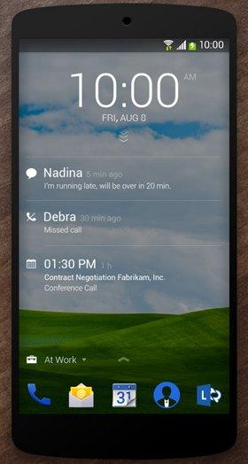 bloqueo microsoft android next lock screen