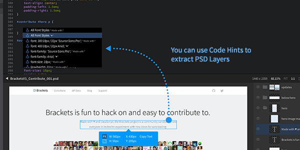 Brackets: Un editor de texto que sabe de diseño