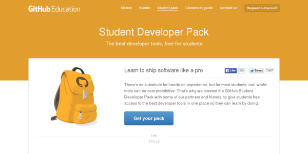 El completo paquete de herramientas para estudiantes de GitHub