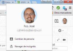 Selector de perfiles de Chrome