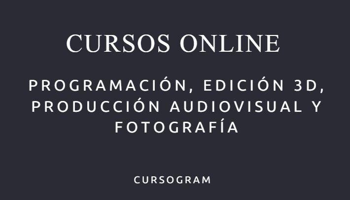 cursos de programaci n edici n 3d producci n audiovisual ForEdicion 3d Online