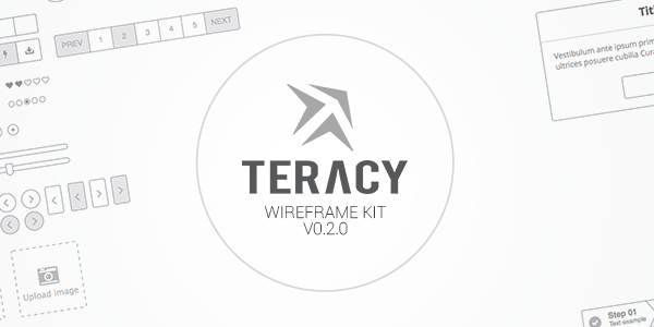 Teracy: Wireframe de diseño para Sketch