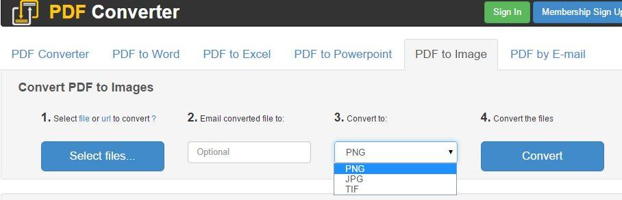 Para convertir archivos PDF en imágenes