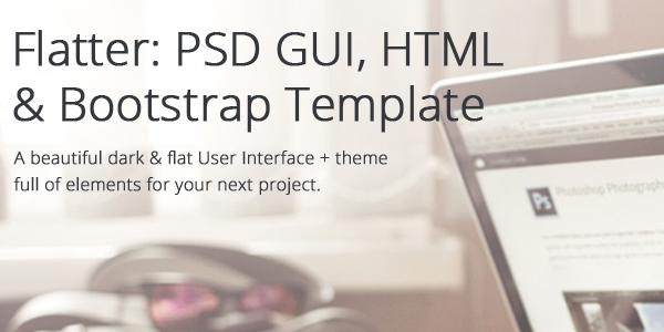 Flatter: Una Gigantezca Interfaz Gráfica En PSD, HTML Y Bootstrap