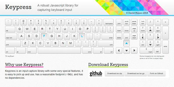 Keypress: Una Librería Para Capturar Lo Que Insertas Con El Teclado