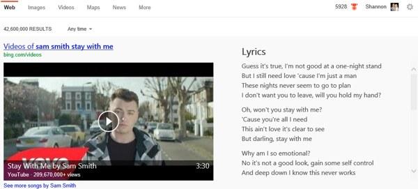 letras de canciones videos