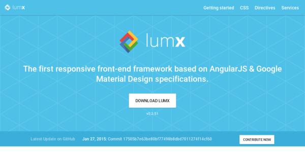 LumX: Un Framework Responsivo, Basado En AngularJS Y El Diseño Material De Google