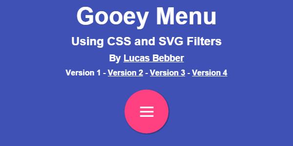 Menú Animado Con CSS Y Flitros SVG
