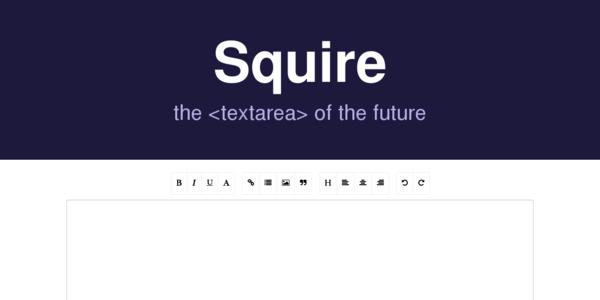 Squire: El Textarea Del Futuro