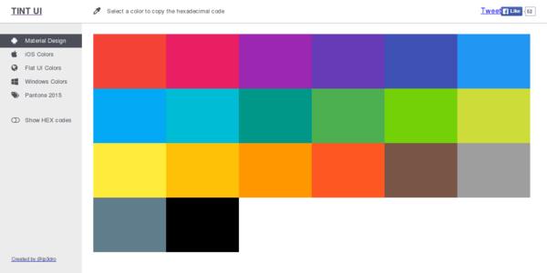 Tint UI: Paletas De Colores Para Toda Clase De Proyectos
