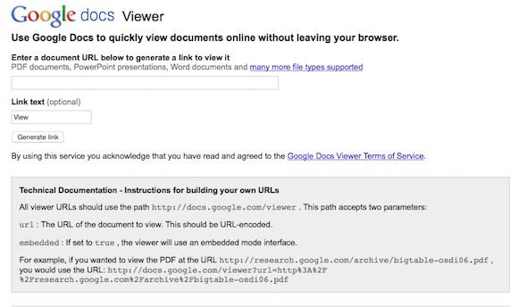 visor web de google docs