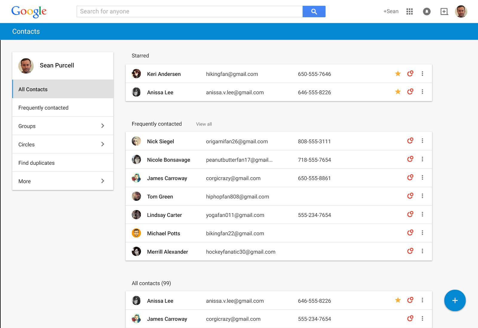 Nuevo Google Contacts: Flamante diseño y tarjetas de contactos ...
