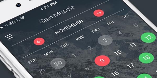 Diseño De Calendario Para Aplicación Móvil En PSD