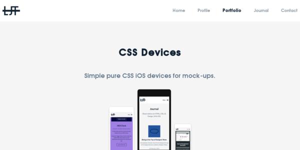 Dispositivos De Apple En Puro CSS Para Mockups