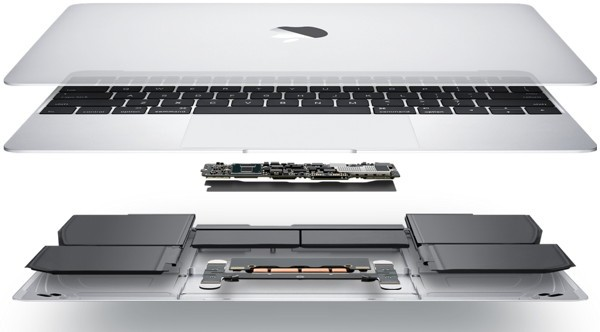 macbook por dentro distribucion de componentes