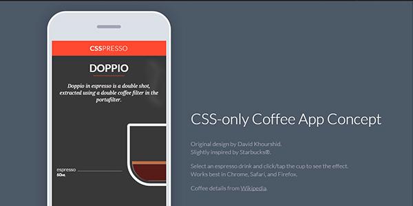 Una App De Café Creada Con Puro CSS