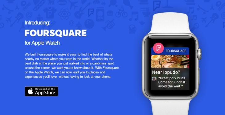 Foursquare-AppleWatch