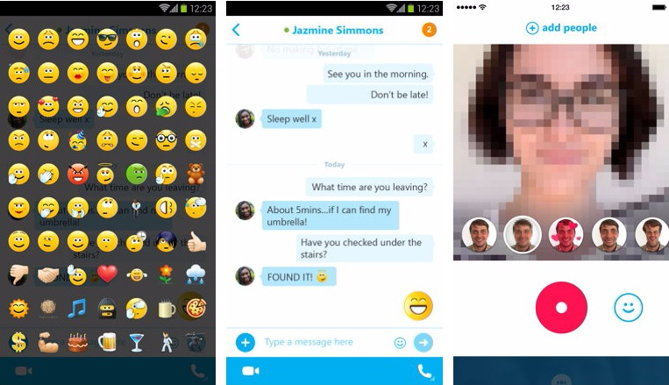 nuevo skype android