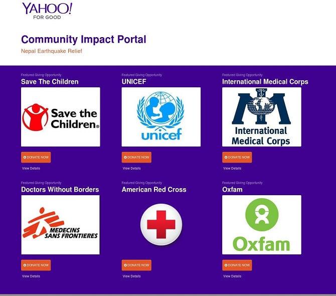 portal yahoo ayuda nepal