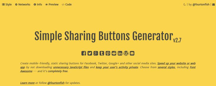 SimpleSharingButtons