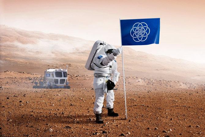 bandera tierra marte