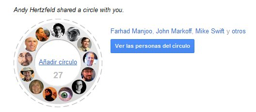 compartir circulos google plus