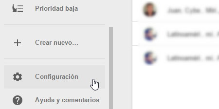 configuracion inbox