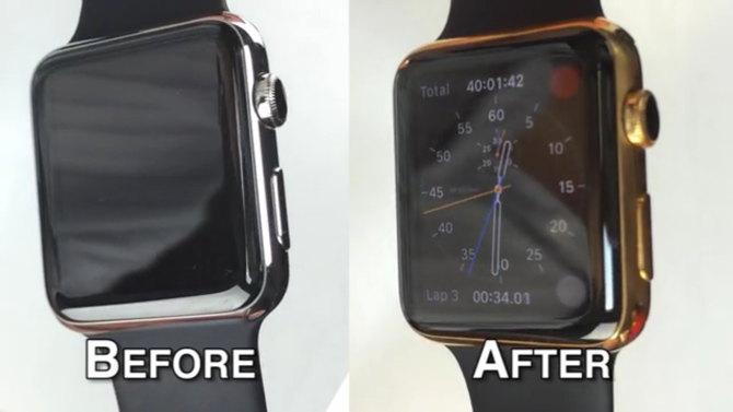 enchape oro apple watch