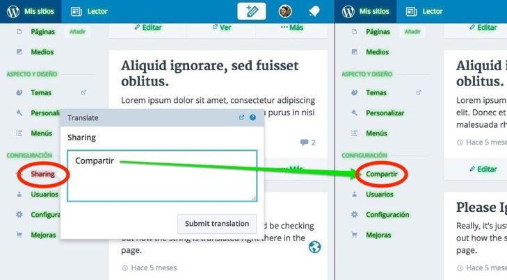 wordpress traductor