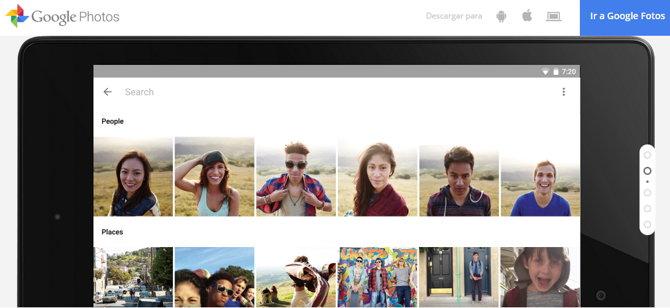 Google Photos Fotos reconocimiento