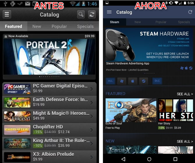 steam material design