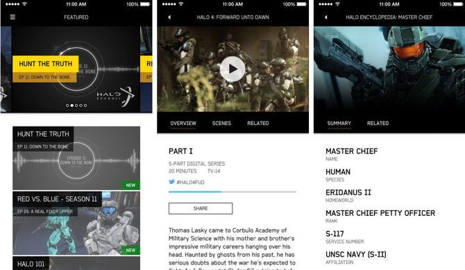 Halo Channel iOS y Android