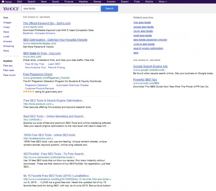 busquedas de google en yahoo