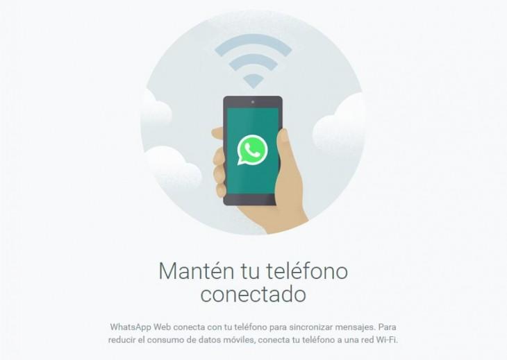 Whatsapp Web sigue necesitando un móvil conectado