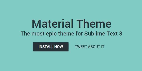 Material: Un Tema Para Personalizar Sublime Text 3