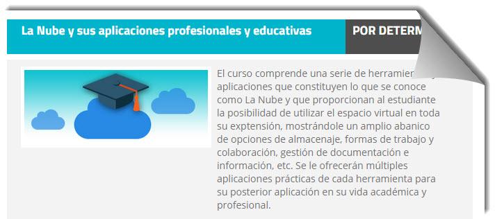 Curso online gratuito sobre Cloud Computing y sus aplicaciones profesionales y educativas