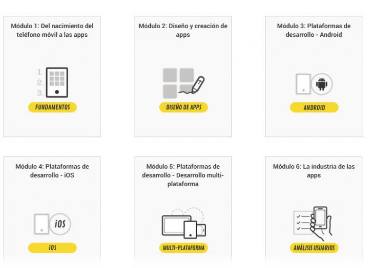 Curso online gratuito sobre desarrollo de apps móviles