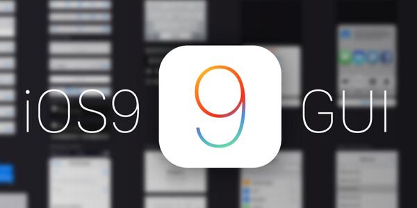 Plantilla De Interfaz De Usuario De iOS 9 En Vectores