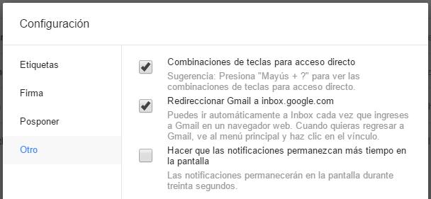 redireccionar gmail inbox
