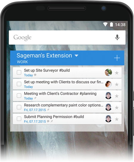 widget android wunderlist