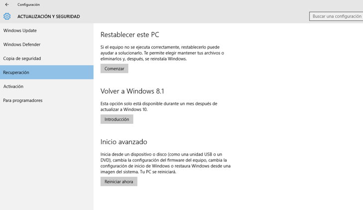 11 Volver a WIndows 8.1