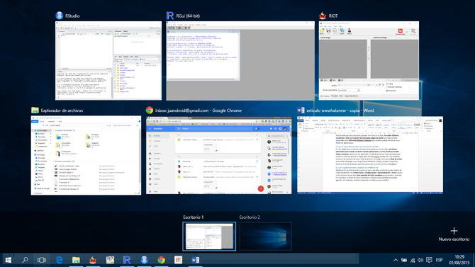 5 vista de tareas escritorios