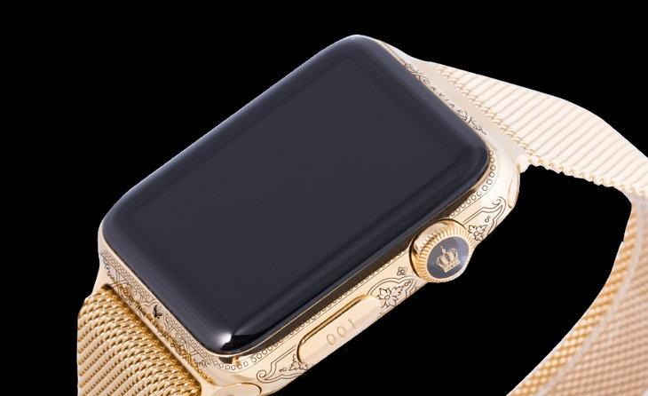 Modelo de Apple Watch de lujo diseñado por la firma Caviar
