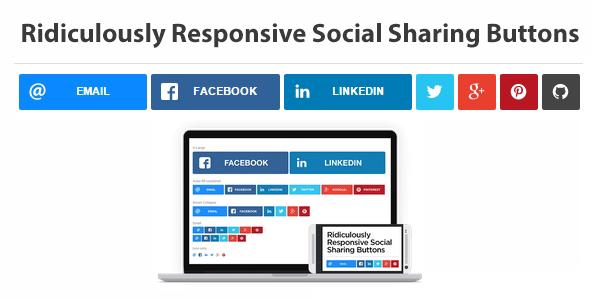 Botones Sociales En Formato Vector Responsivos Por CSS