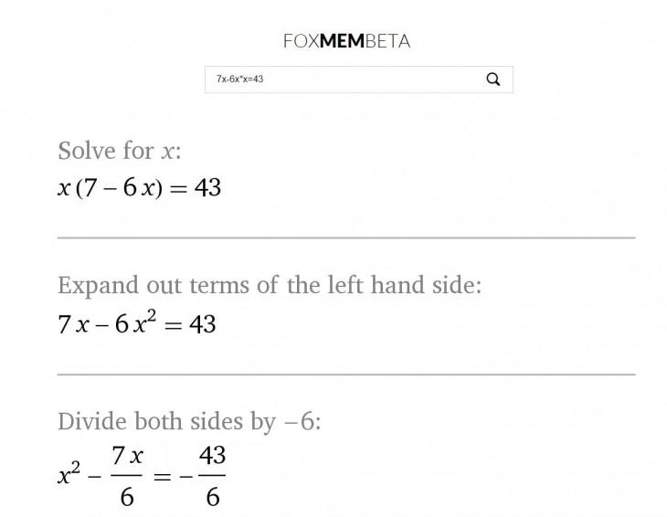 foxmembeta, nueva web para resolver problemas matemáticos paso a paso