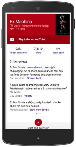 criticas peliculas google