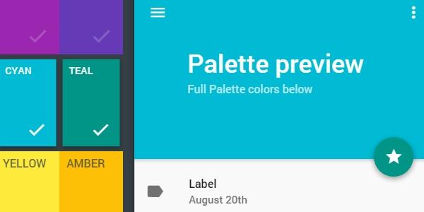 Estilizador De Paletas En Estilo Material Design Para Android